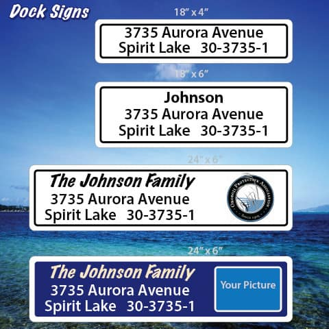 Iowa dock sign