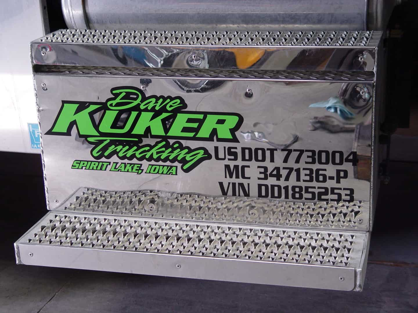 Kuker Trucking vinyl decals - Okoboji Graphics