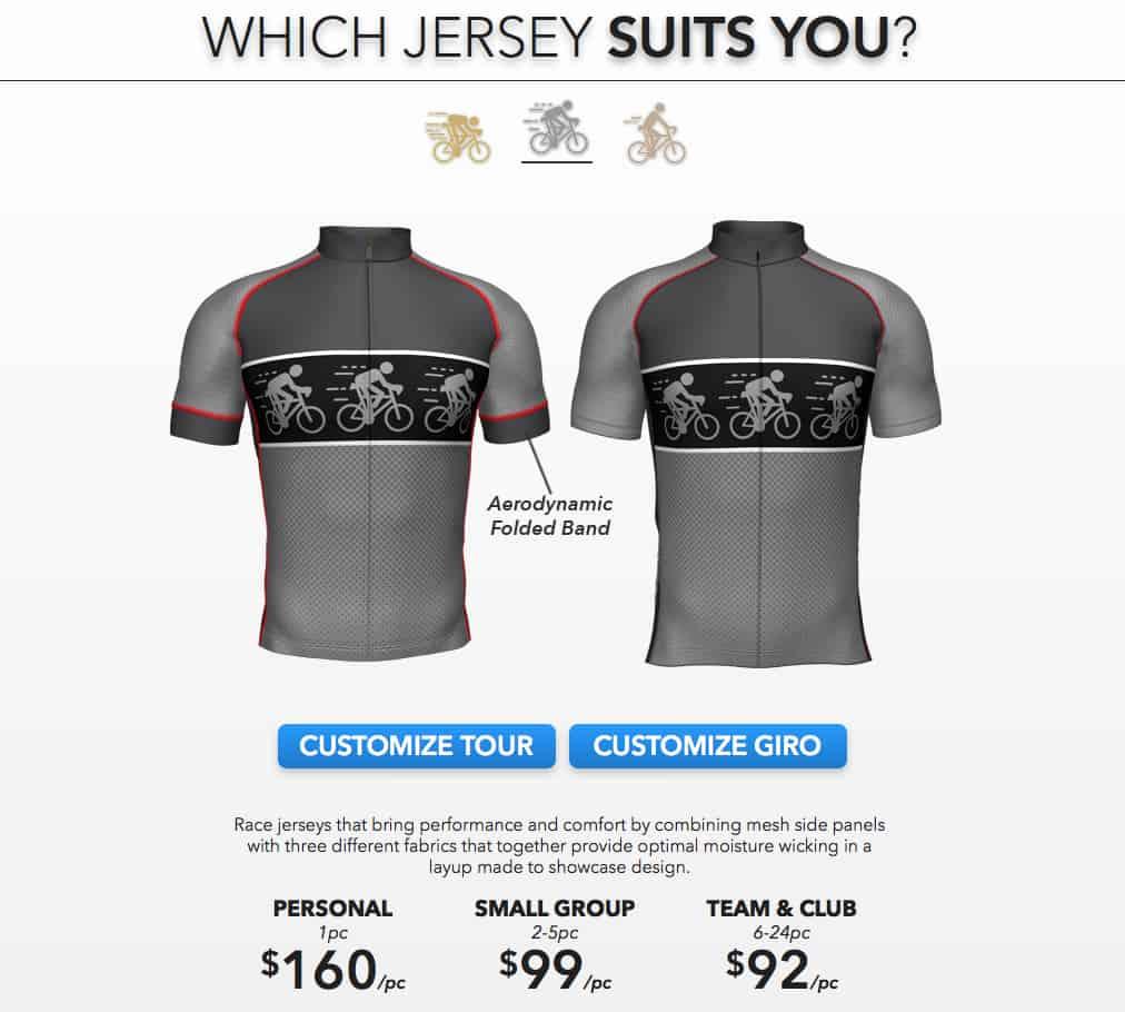 Team Cycling Tour Jersey