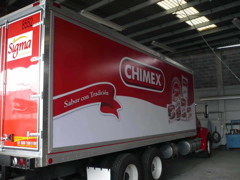 Quick change banner media frame for truck side advertising.