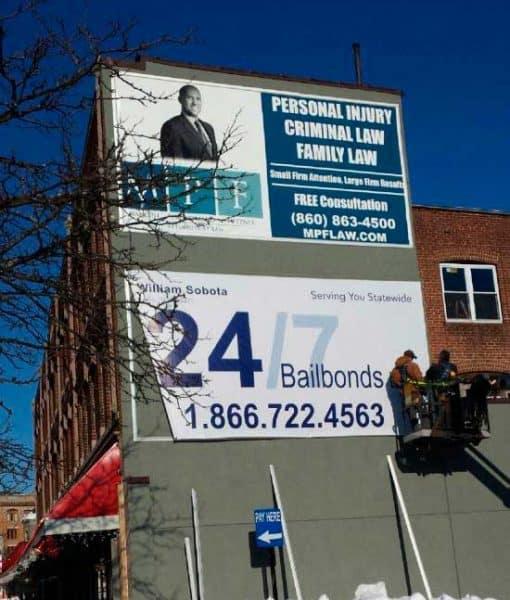 billboard media frames for exterior walls
