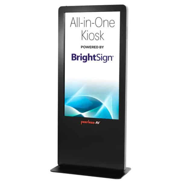 "Peerless all-in-one Touchscreen Kiosk 55"" display"