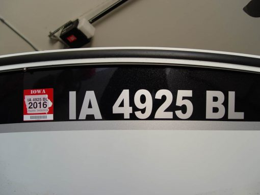 Iowa boat license number decal cut vinyl