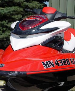 Jet ski water craft license number decals in 2 color vinyl layer colors.