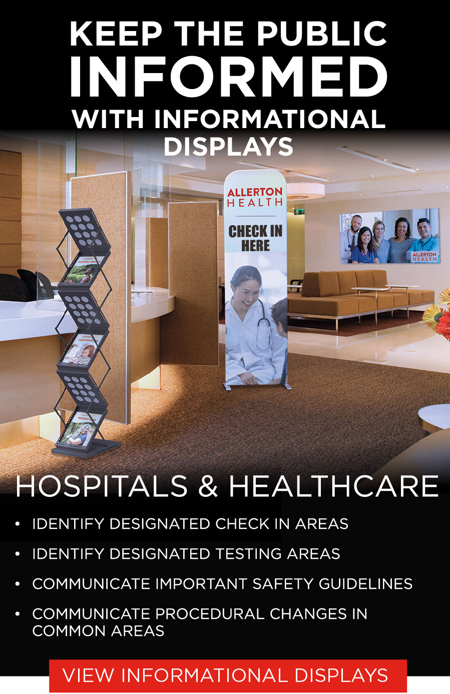 keep public informed with informational display signs